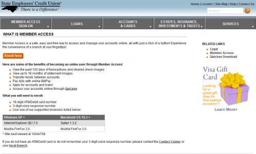 NCSECU member access