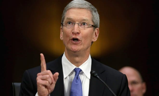 In Senate, Tax Strategy Was Defended By Apple's Tim Cook