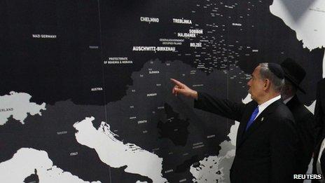 Holocaust Display Opened By Netanyahu At Auschwitz