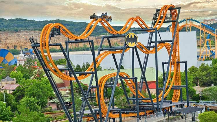 The Batman Rollercoaster