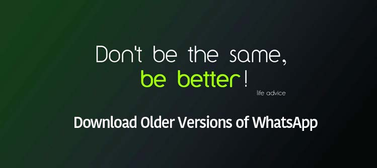 Download Older Versions of WhatsApp