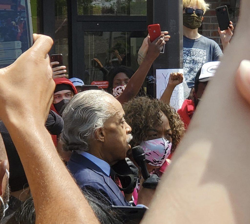reverend al sharpton george floyd peaceful protests