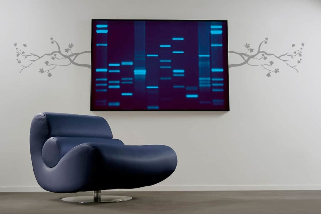 A Customized Portrait Made Up of Your DNA