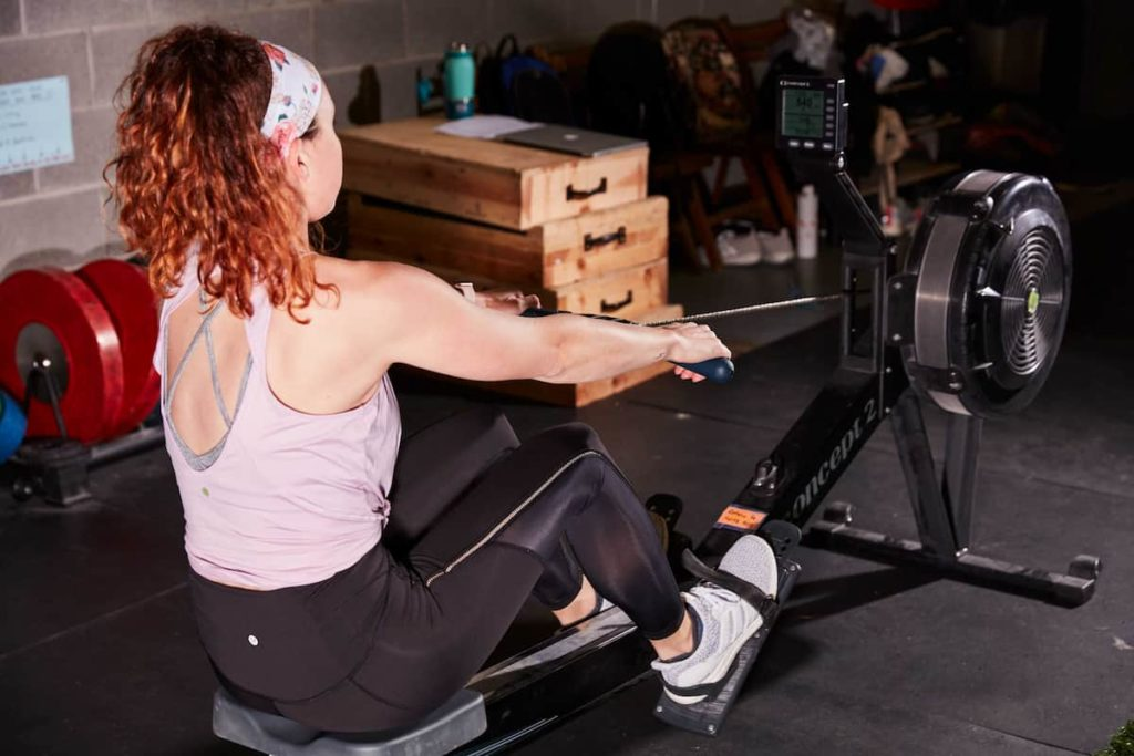 The purpose of the rowing machine