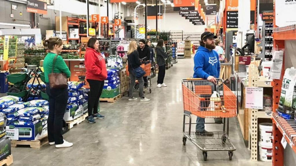 Returning to a physical Home Depot Store