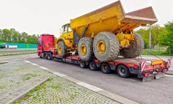 Lowboy Truck and Trailer