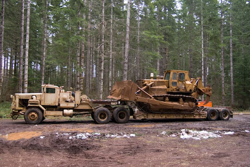 Use of Lowboy Truck and Trailer